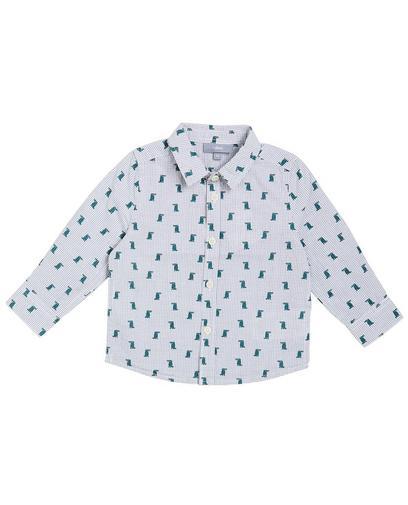 Wit geruit hemd